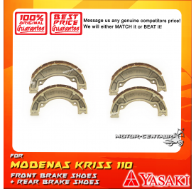 YASAKI FRONT + REAR DRUM BRAKES SHOES FOR MODENAS KRISS 110