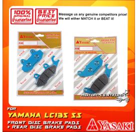 YASAKI FRONT DISC BRAKE PADS + REAR DISC BRAKE PADS FOR YAMAHA LC135 5S