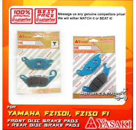 YASAKI FRONT DISC BRAKE PADS + REAR DISC BRAKE PADS FOR YAMAHA FZ150 FI, FZ150I