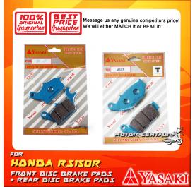 YASAKI FRONT DISC BRAKE PADS + REAR DISC BRAKE PADS FOR HONDA RS150, RS150R