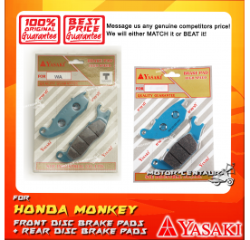 YASAKI FRONT DISC BRAKE PADS + REAR DISC BRAKE PADS FOR HONDA MONKEY
