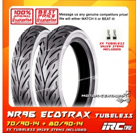 IRC TUBELESS TYRE ECOTRAX NR96 70/90-14 + 80/90-14