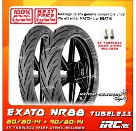 IRC TUBELESS TYRE EXATO NR88 80/80-14 + 90/80-14