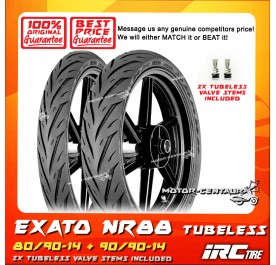 IRC TUBELESS TYRE EXATO NR88 80/90-14 + 90/90-14