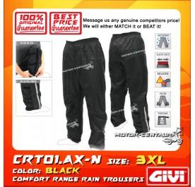 GIVI RAIN TROUSERS CRT01 3XL BLACK