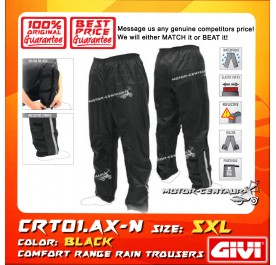 GIVI RAIN TROUSERS CRT01 5XL BLACK