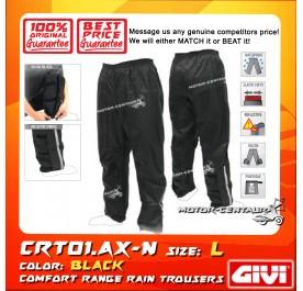 GIVI RAIN TROUSERS CRT01 L BLACK