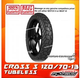 CORSA PLATINUM TUBELESS TYRE CROSS S 120/70-13
