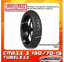 CORSA PLATINUM TUBELESS TYRE CROSS S 130/70-13