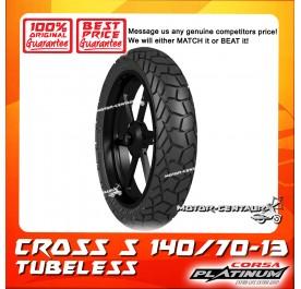 CORSA PLATINUM TUBELESS TYRE CROSS S 140/70-13