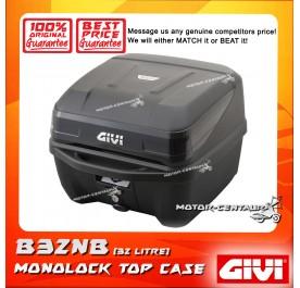 GIVI MONOLOCK TOP CASE B32NB BLACK REFLECTOR