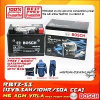 BOSCH M6 MEGA POWER RIDE AGM VRLA BATTERY RBTZ-5S + BOSCH RAIN COAT (LAUNCHING PROMOTION)