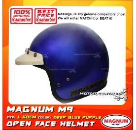 MAGNUM HELMET M9 (5 BUTTONS) DEEP BLUE PURPLE L