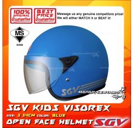 SGV HELMET KIDS VISOREX BLUE