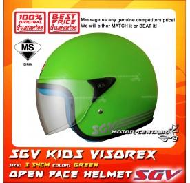 SGV HELMET KIDS VISOREX GREEN