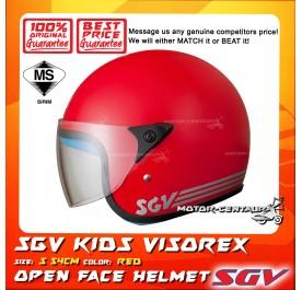 SGV HELMET KIDS VISOREX RED