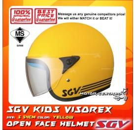 SGV HELMET KIDS VISOREX YELLOW