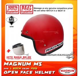 MAGNUM M5 HELMET RED + BOGO BG-05 TINTED VISOR