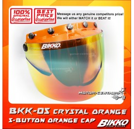 BIKKO VISOR BKK-05 CRYSTAL ORANGE, 5 BUTTONS ORANGE-CAP