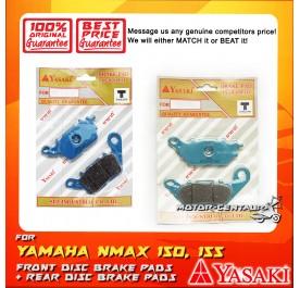 YASAKI FRONT DISC BRAKE PADS + REAR DISC BRAKE PADS FOR YAMAHA NMAX