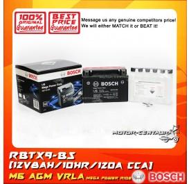 BOSCH VRLA AGM BATTERY M6 MEGA POWER RIDE RBTX9-BS (YTX9/0092M67134)