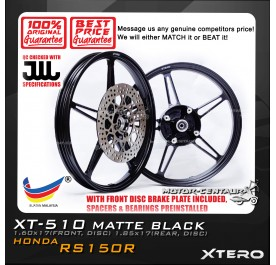 XTERO SPORT RIM W/FR DISC BRAKE PLATE XT-510 1.60X17(F) 1.85X17(R) RS150R BLACK