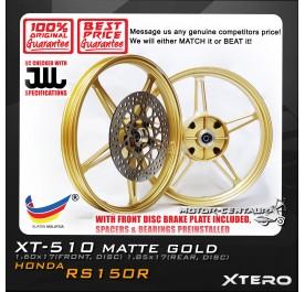 XTERO SPORT RIM W/FR DISC BRAKE PLATE XT-510 1.60X17(F) 1.85X17(R) RS150R GOLD