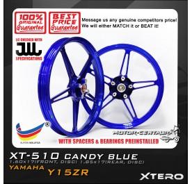 XTERO SPORT RIM XT-510 1.60X17(F) 1.85X17(R) Y15ZR CANDY BLUE