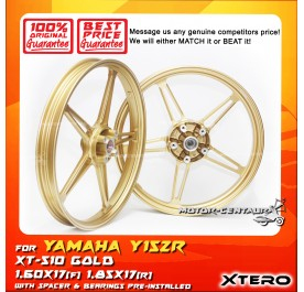 XTERO SPORT RIM XT-510 1.60X17(F) 1.85X17(R) Y15ZR GOLD