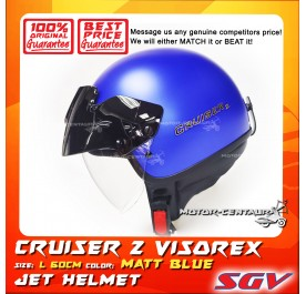 SGV HELMET CRUISER VISOREX MATT BLUE