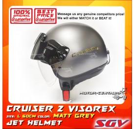 SGV HELMET CRUISER VISOREX MATT GREY