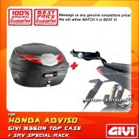 GIVI B360N TOP CASE + GIVI HONDA ADV150 SRV SPECIAL RACK