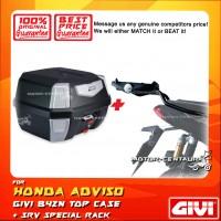 GIVI B42N TOP CASE +  GIVI HONDA ADV150 SRV SPECIAL RACK
