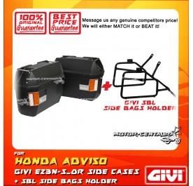 GIVI E23N-S-OR SIDE CASES + GIVI HONDA ADV150 SBL SIDEBAG HOLDER