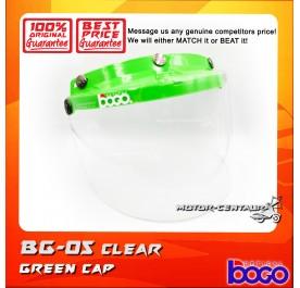 BOGO VISOR BG-05 CLEAR, GREEN-CAP
