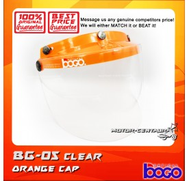 BOGO VISOR BG-05 CLEAR, ORANGE-CAP