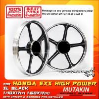 MUTAKIN SPORT RIMS W/BEARINGS 5L 1.40X17 (F) 1.60X17(R) EX5 BLACK