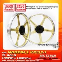 MUTAKIN SPORT RIMS W/BEARINGS 5L 1.40X17 (F) 1.60X17(R) KRISS 1 GOLD