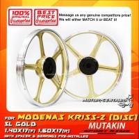 MUTAKIN SPORT RIMS W/BEARINGS 5L 1.40X17 (F) 1.60X17(R) KRISS 2 GOLD