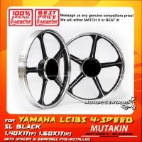 MUTAKIN SPORT RIMS W/BEARINGS 5L 1.40X17 (F) 1.60X17(R) Y135LC BLACK