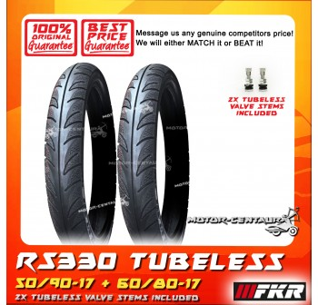 FKR TUBELESS TYRE D MONTE RS330 50/90-17 + 60/80-17