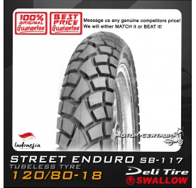 SWALLOW TUBELESS TYRE SB-117 ENDURO 120/80-18
