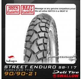 SWALLOW TUBELESS TYRE SB-117 ENDURO 90/90-21