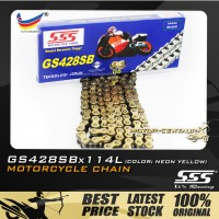 SSS CHAIN GS428SB X 114L GOLD PLATED (OUTER LAYERS ONLY)