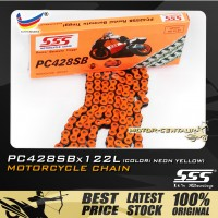 SSS CHAIN PC428SB X 122L ORANGE PLATED (OUTER LAYERS ONLY)
