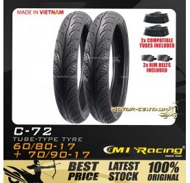 CMI RACING TYRE C72 60/80-17 + 70/90-17 + TUBES