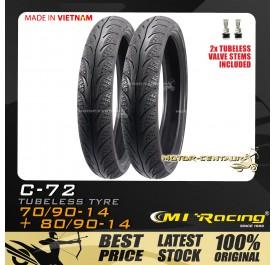 CMI RACING TUBELESS TYRE C72 70/90-14 + 80/90-14