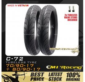CMI RACING TUBELESS TYRE C72 70/90-17 + 80/90-17