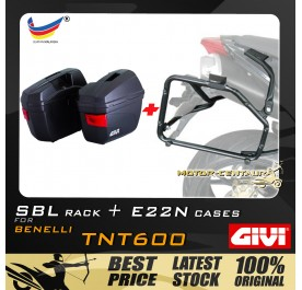 GIVI E22N SIDE CASES + GIVI BENELLI TNT600  SBL SIDEBAG HOLDER