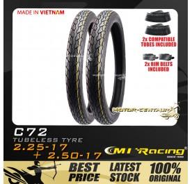 CMI RACING TYRE C123 2.25-17 + 2.50-17 + TUBES
